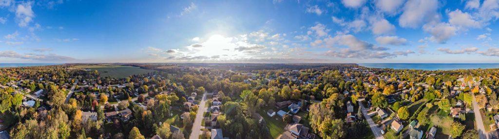 Aerial Drone 360 Degree Panorama