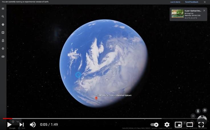 Super Optical Google Earth Virtual Toiur